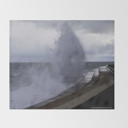 A Gale to Blow Out the Year #3 (Chicago Waves Collection) Throw Blanket