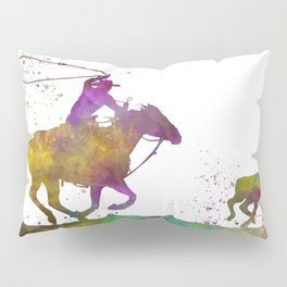 American cowboy with lasso in watercolor 08 Pillow Sham