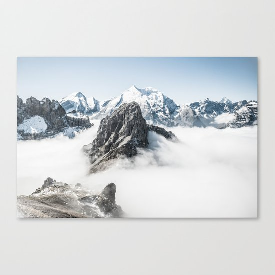 With My Head Above The Clouds Canvas Print