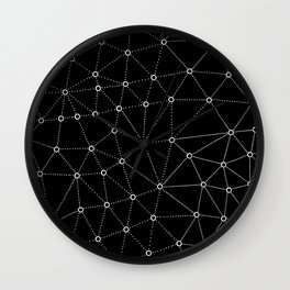 African Triangle Black Wall Clock