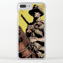 Australian Light Horse soldier Clear iPhone Case