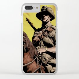 Australian Light Horse soldier Clear iPhone Case