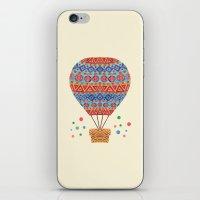 hot air balloon iPhone & iPod Skins featuring Hot Air Balloon by haidishabrina