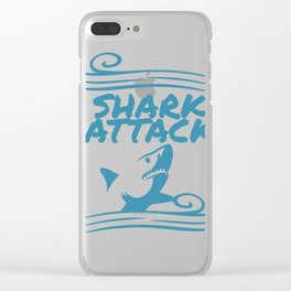 Shark Attack Clear iPhone Case
