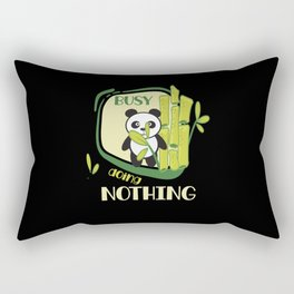 Busy Doing Nothing Panda Lazy Chilling Rectangular Pillow