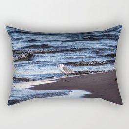 Seagulll by the Waves Rectangular Pillow