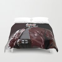 star lord Duvet Covers featuring Star Lord Fan Art by Vito Fabrizio Brugnola