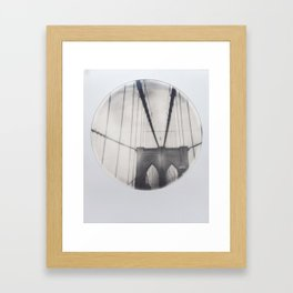 brooklyn bridge polaroid Framed Art Print