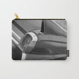 Tail Fin Close Up Photo, Classic Car, Black and White Carry-All Pouch