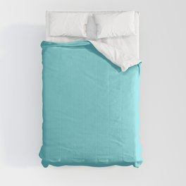 From The Crayon Box – Turquoise Blue - Bright Blue Solid Color Comforters