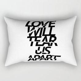 LOVE WILL TEAR US APART #black Rectangular Pillow