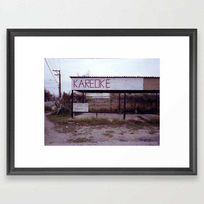 kareoke Framed Art Print