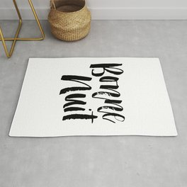Bonne Nuit Goodnight typography wall art home decor Rug