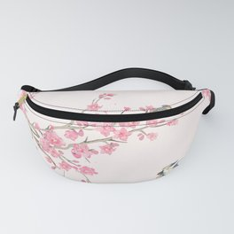 Birds and cherry blossoms Fanny Pack