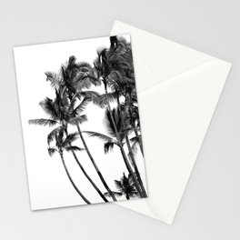 Black and White Palms Stationery Cards