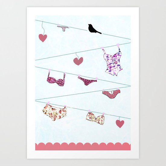 UNDERWEAR LOVE: LINGERIE Art Print