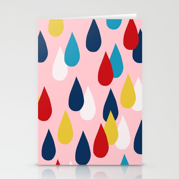 Happy Rain Stationery Cards
