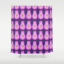 Pink Pears Shower Curtain