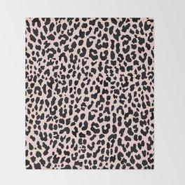 Rose Gold Leopard Throw Blanket