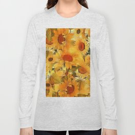 Sunshine Floral Abstract Long Sleeve T-shirt