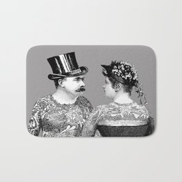 Tattooed Victorian Lovers Bath Mat