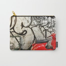 Red Vespa and graffitis Carry-All Pouch