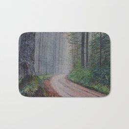 Misty Forest Mountain Path Bath Mat