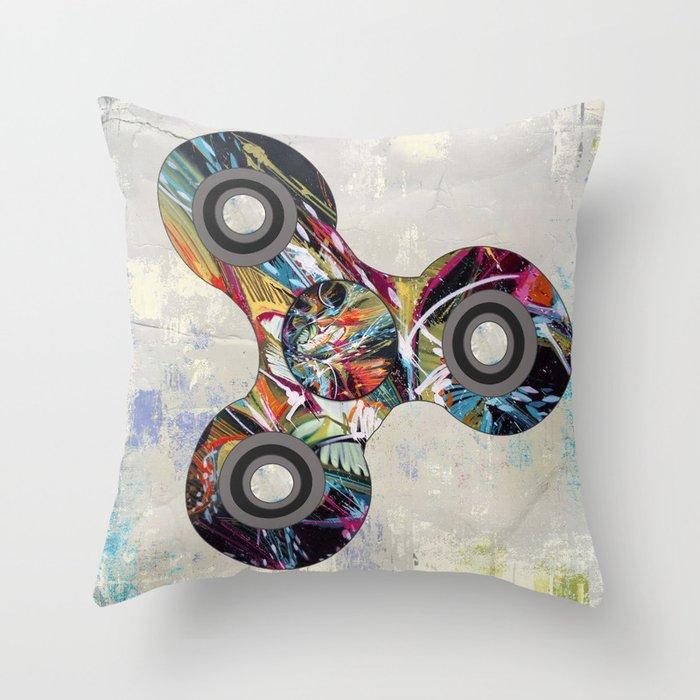 Graffiti Fidget Spinner Throw Pillow