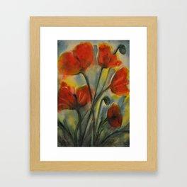 Field of Happy Framed Art Print
