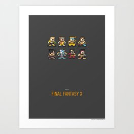 Mega Final Fantasy X Art Print