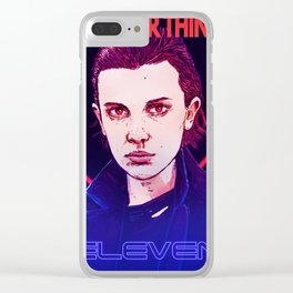 eleven stranger terminator things Clear iPhone Case