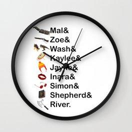 Firefly Names Wall Clock