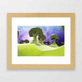 Broccoli Planet Framed Art Print