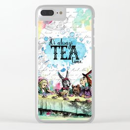 Alice in Wonderland - Tea Time Clear iPhone Case