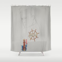 Tattoo Guy No.1 - Collaboration Shower Curtain