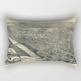 Map Of Wilkes Barre 1889 Rectangular Pillow