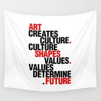 helvetica Wall Tapestries featuring ART EFFECT by THE USUAL DESIGNERS