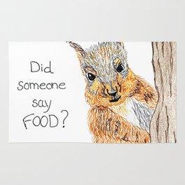 Did someone say food? Rug