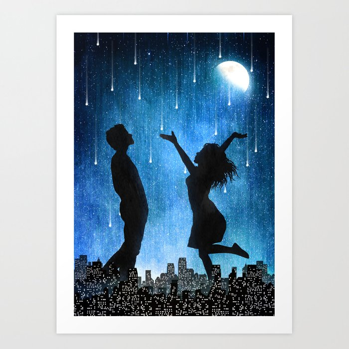The night is ours Art Print