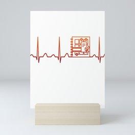 Scrapbooking Heartbeat Mini Art Print