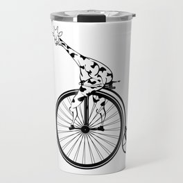 Giraffe Riding A Penny-Farthing Bicycle Travel Mug