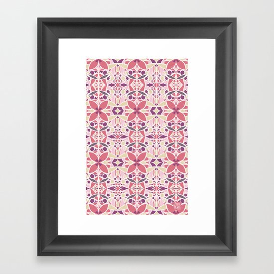 Petal Pusher Framed Art Print