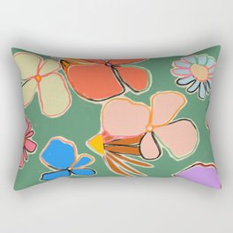 VINTAGE GARDEN GREEN Rectangular Pillow