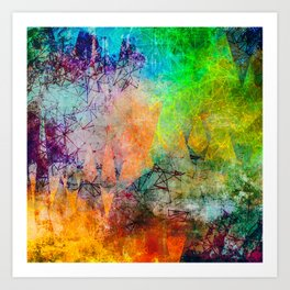 Vibrant Constellations Abstract Design Art Print