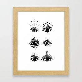 Midnight Mystic eyes Framed Art Print