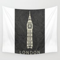 london Wall Tapestries featuring London by NJ-Illustrations
