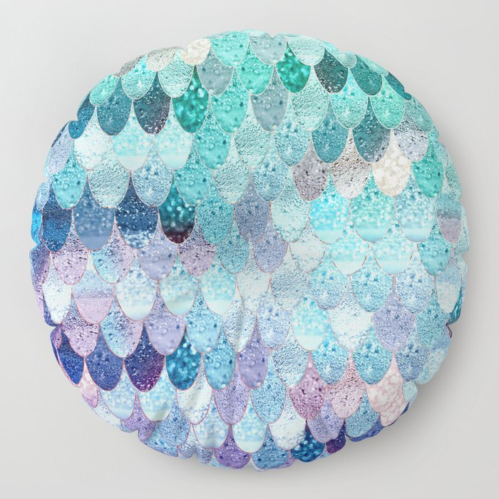 SUMMER MERMAID II Floor Pillow