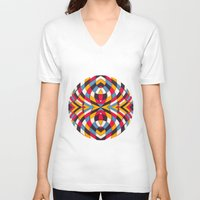 stained glass V-neck T-shirts featuring Stained Glass by Danny Ivan
