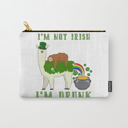 St Patricks Day Llama Sloth Irish Drinking Team Carry-All Pouch
