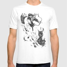 Conquest White MEDIUM Mens Fitted Tee